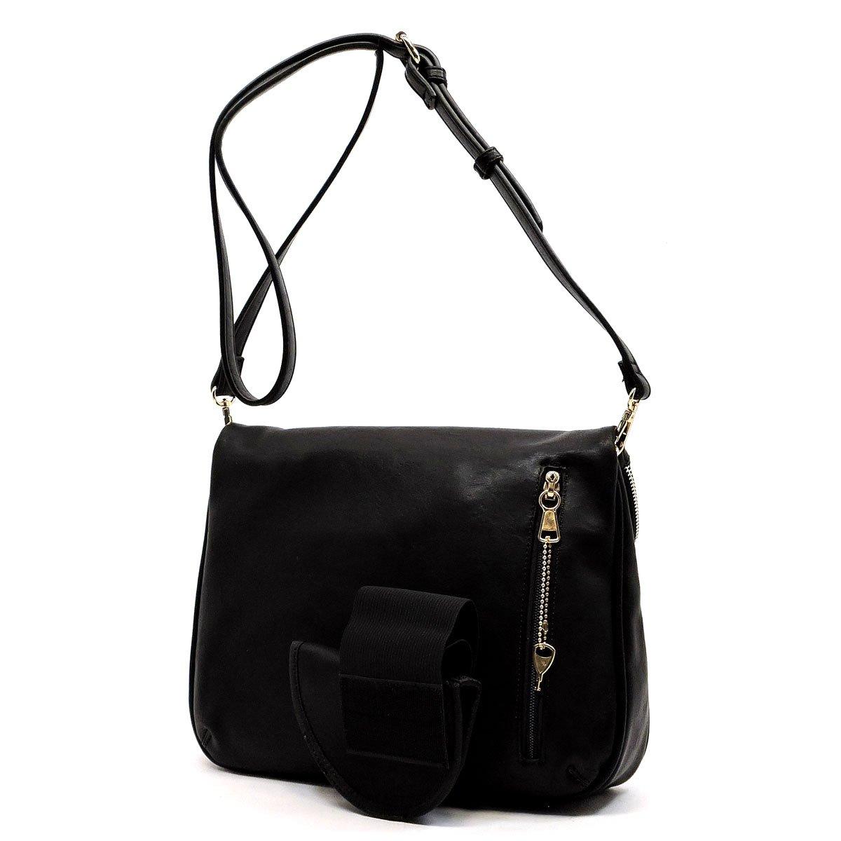 Concealed Carry Purse - Daisy Lock Concealed Carry Messanger Bag- Black   Handbags  Amazon.com f785b9c52331e