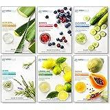 MIRABELLE KOREA Fairness Facial Mask (Aloevera, Berries, Cucumber, Herbs, Lemon, Papaya - COMBO PACK OF 6)