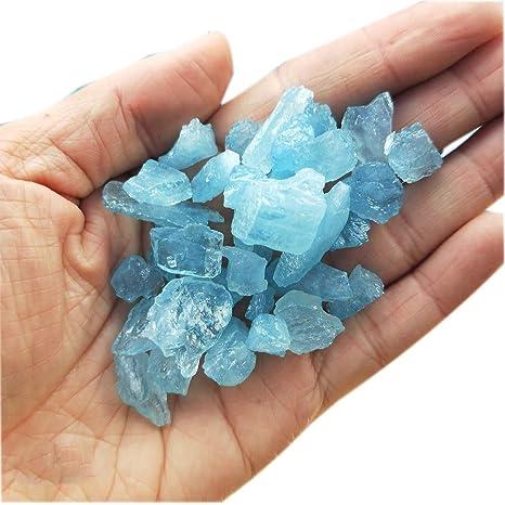 Natural blue Aquamarine gems Crystal specimen-11
