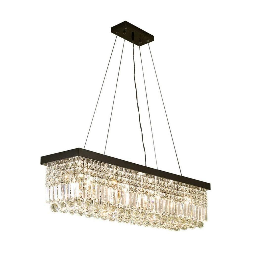 Office Ceiling Lights Modern Crystal Chandelier Lighting Embedded LED Ceiling Chandelier for Dining Room, Bathroom, Bedroom, Living Room 6 E12 LED Bulb Energy Level A+++ (Size : 1002525cm) by Xk-Ceiling Lights