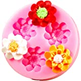 Longzang F0150 Flower Fondant Silicone Sugar Craft Mold, Mini, Pink