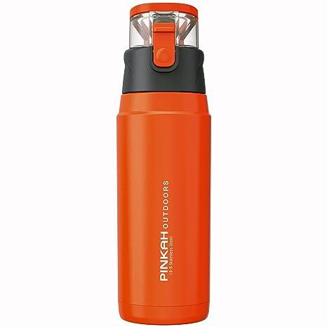 Amazon.com: Botella de agua deportiva aislada al vacío de ...