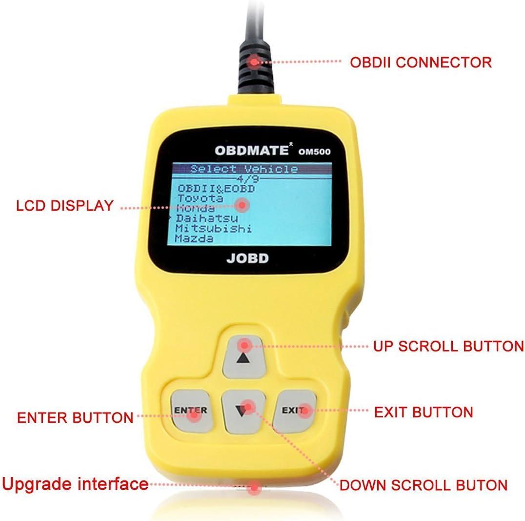 AUTOOL OM500 JOBD//OBDII//EOBD Code Reader Auto Diagnostic Tool Engine Fault Scanner for Japanese Vehicles