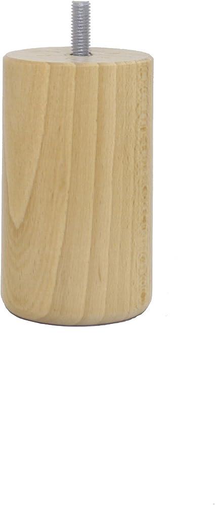 La Fabbrica di Piedi am20170003/Gioco di 4/Piedi di Letto cilindri Legno Verniciato Chiaro 25/x 6/x 6/cm