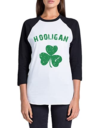 b06c6814 Awkward Styles Unisex Hooligan Irish Raglan ¾ Sleeve Shirts St. Patrick's  Day Gifts Whiteblack S