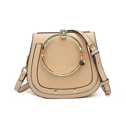 62f5a5643f50 Yoome Women Punk Circular Ring Handle Handbags Small Round Purse Crossbody  Bags For Girls