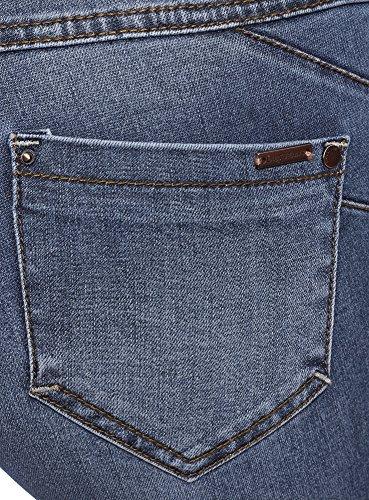 Jeans 7500w Push Donna Skinny Up Oodji Ultra Blu x04UE