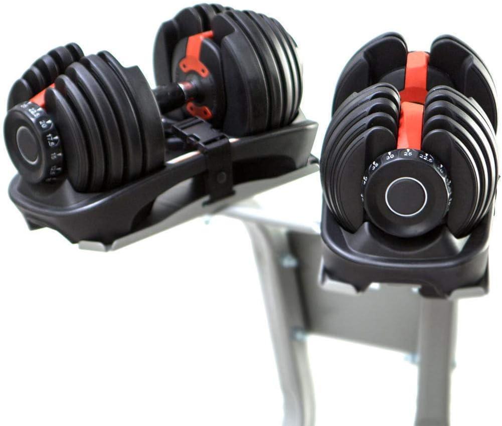 Sporteq - Mancuernas ajustables (24 kg, 40 kg de peso, para gimnasio, fitness), color negro, tamaño 2 x Dumbbells (Pair): Amazon.es: Deportes y aire libre