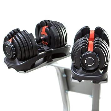 Sporteq - Mancuernas ajustables (24 kg, 40 kg de peso, para gimnasio,