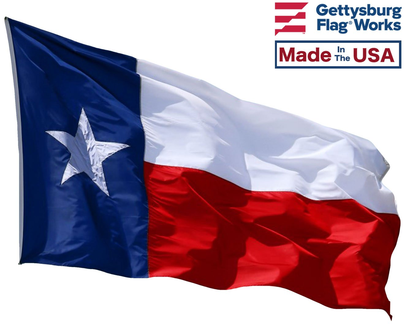 6x10' State of Texas Flag - Heavy Duty Polyester Made in USA