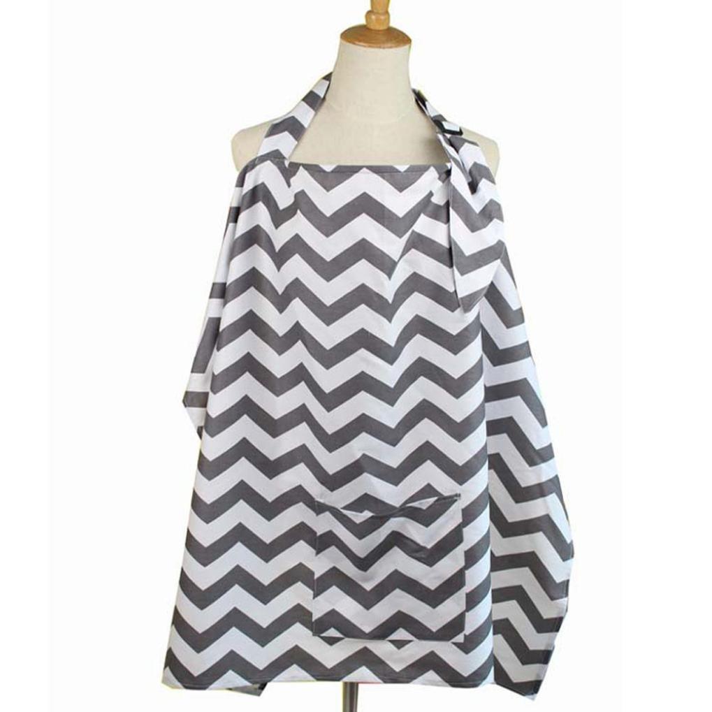 hunpta Baby Breastfeeding Cover Mum Cotton Nursing Udder Apron Shawl Cloth+Storage Bag