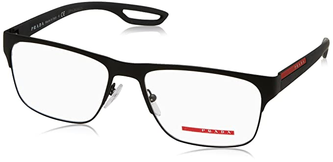 Amazon.com: Prada PS52GV Eyeglass Frames DG01O1-55 - Black Rubber ...