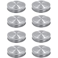 8pcs Pack 304 Stainless Steel Regular Mouth Mason Jar Lids Storage Caps, Rust-proof and Leak-proof, Compatible with Ball & Kerr Mason Jars