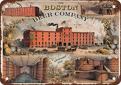 1880 The Boston Beer Company Vintage Look Reproduction Metal Tin Sign 12X18 Inches (Lake Arrowhead Tin Sign)