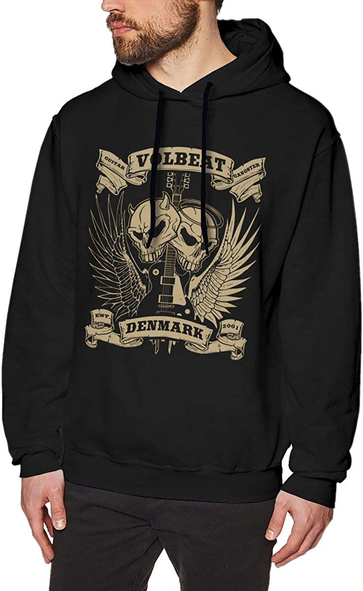 Fashion Sweater Long Sleeve Hooded for Mens Black Anime Gam Volbeat 2