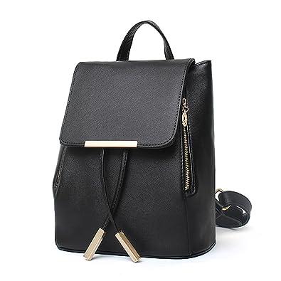 DEERWORD donna borse a zainetto borse a mano borse a tracolla zaino della scuola borsa del portatile pelle blu