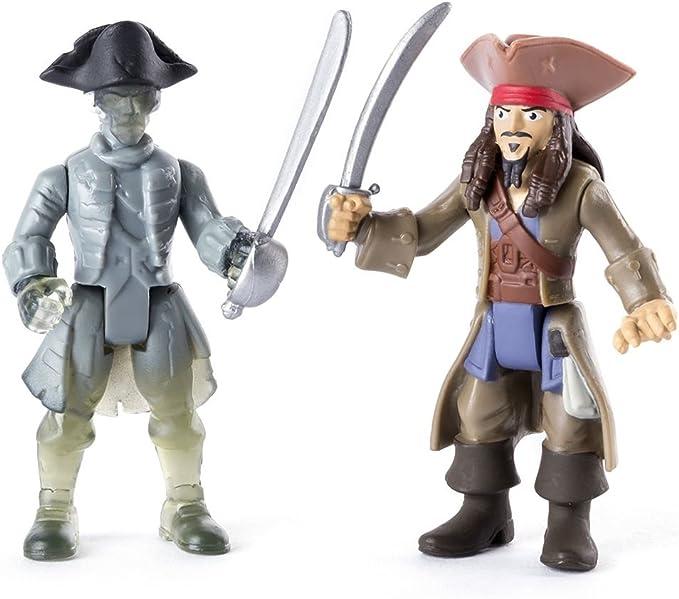 Piratas del Caribe - Juego Figura conjunto Jack Sparrow y Piratas Fantasmas: Amazon.es: Juguetes y juegos