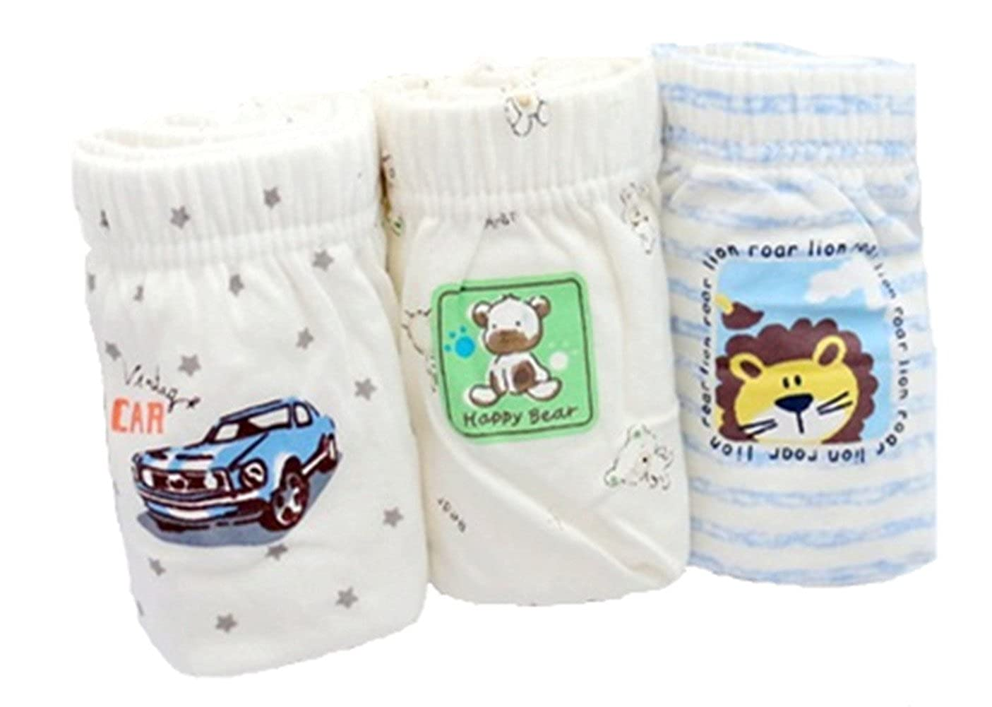 JIEYA Baby Boys Girls Organic Cotton Underwear Briefs for Toddlers, 3 Pack WV-UME3-POLZ