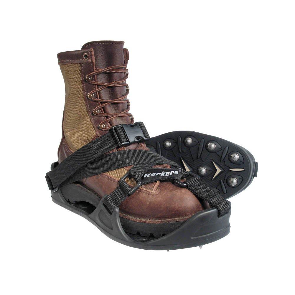 Korkers Men's Tufftrax Regular Threaded Steel Spikes Cleats, Black, 2XL