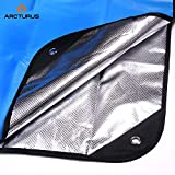 """Arcturus Outdoor Survival Blanket - Waterproof, Windproof, Thermal, Reflective Tarp - 60"""" x 82"""". Versatile - Use as a Camping Tent Footprint, Ground Cloth or Emergency Shelter (Blue)"""