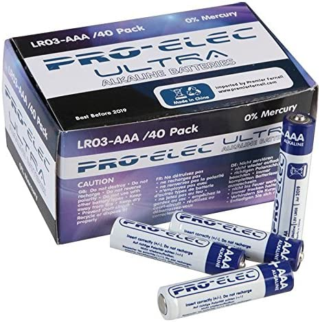 Pro Elec? Pilas alcalinas AAA Ultra Business Pack (40 Pack)? psg90902: Amazon.es: Hogar