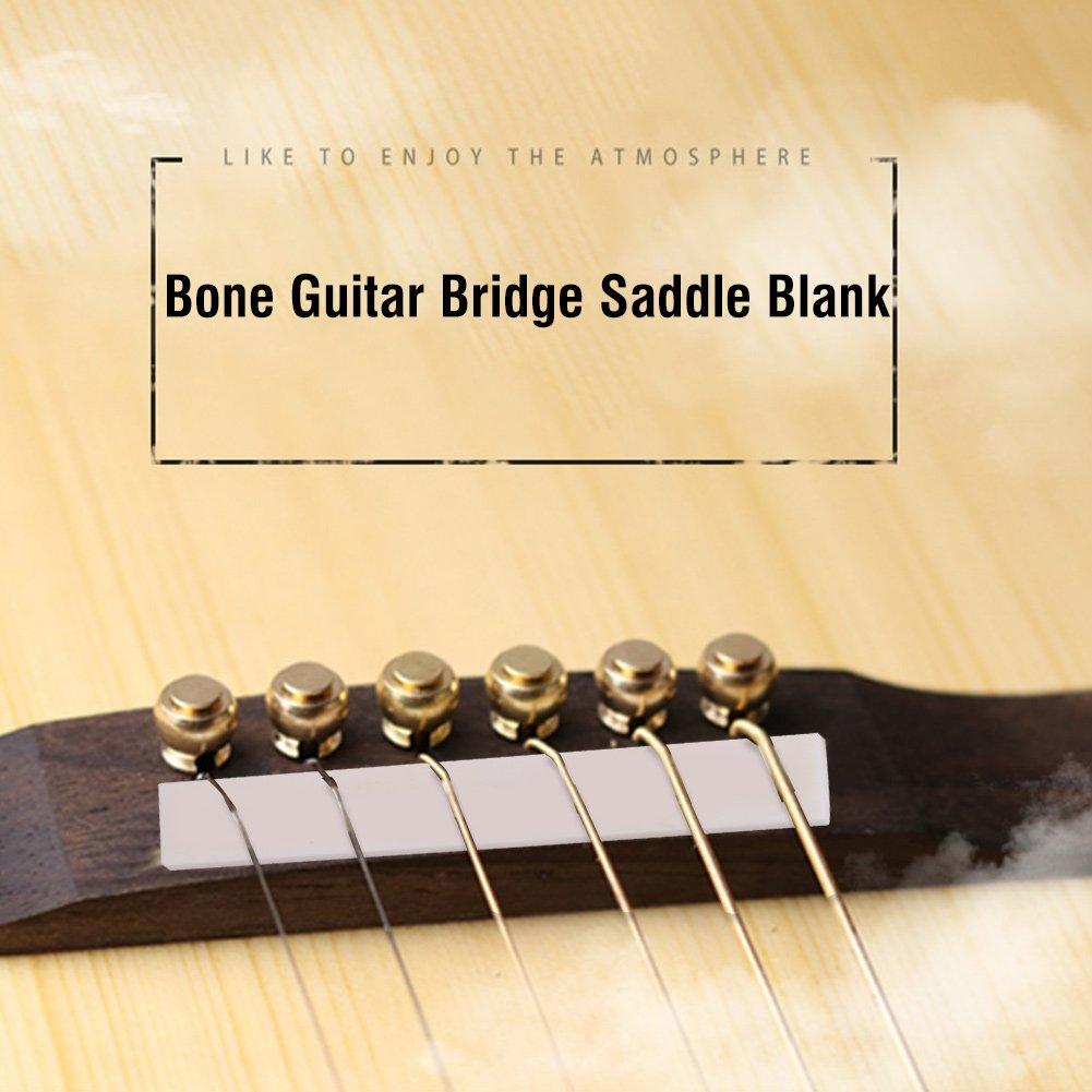 Amazon Com 6pcs Bone Bridge Saddle Nuts Acoustic Classic Guitars