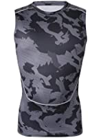 Healths Men's Compression Tights Sleeveless Camouflage