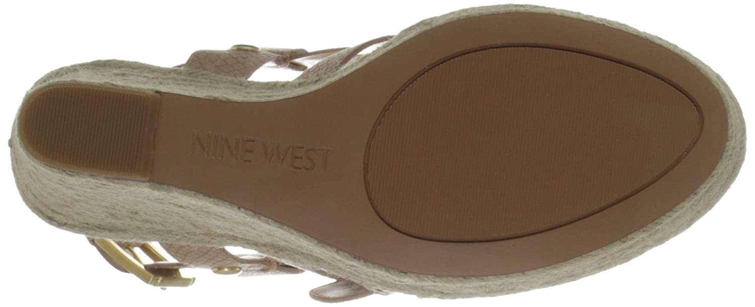 Nine West Women's Jentri Synthetic Wedge Sandal B017MK2A80 10 B(M) US|Natural/Natural