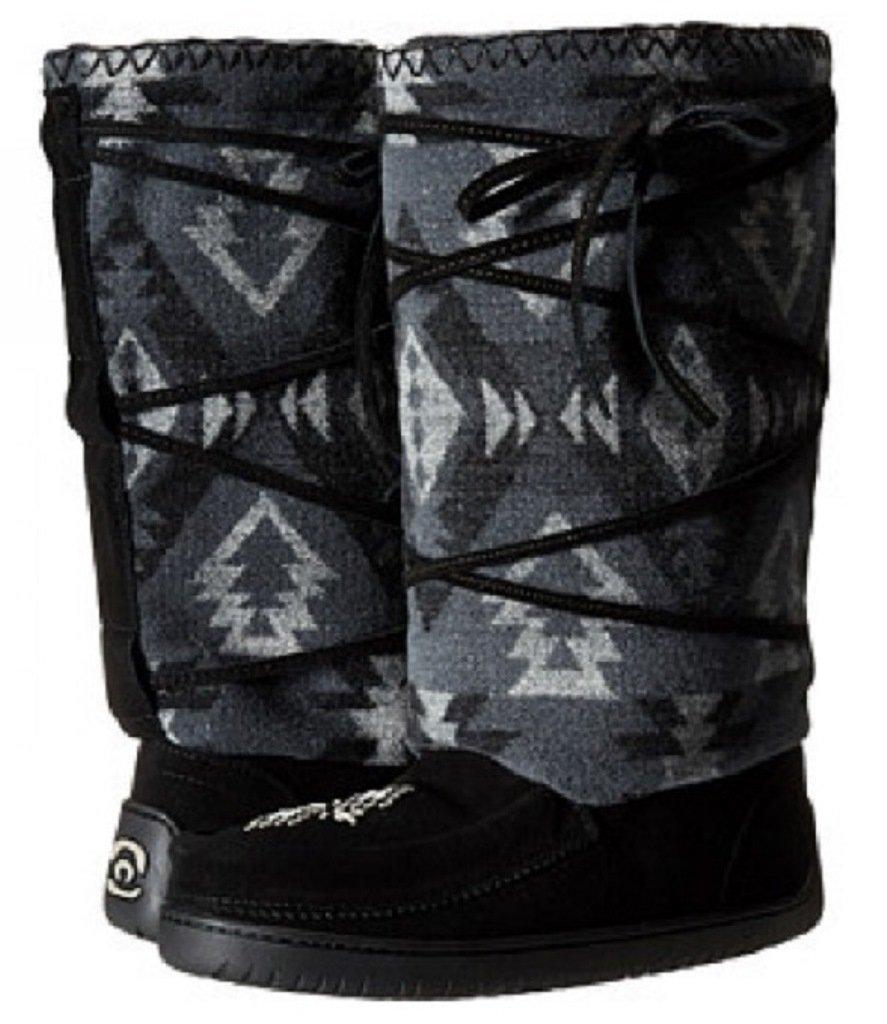 Manitobah Mukluks Women's Wool Lace-Up Mukluk Winter Boot (Black)