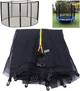 BIN Replacement Safety Net Enclosure Surround Outside Netting 5/6/8/10/12/13/14/16 FT for Garden Trampoline Net Only