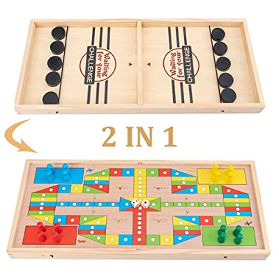 Johiux Table Desktop Battle 2 in 1 Ice Hockey Game, Bouncing Chess Hockey Game, Board Games Toys for Adults Parent-Child Interactive Table Desktop Battle Party Game..: Toys & Games