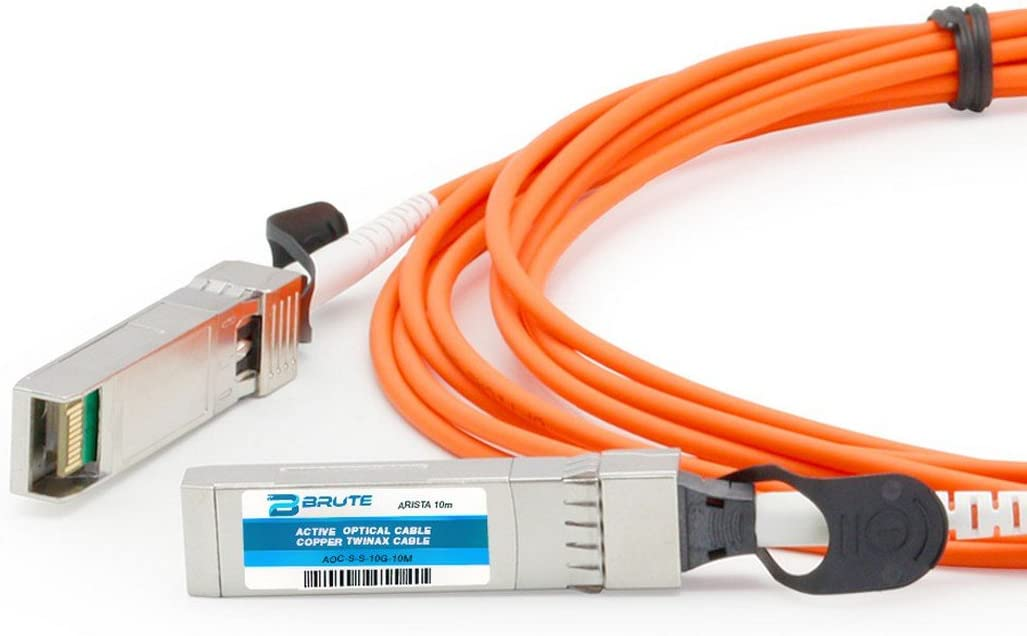 Active Optical Cable Brute Networks SFP-10G-AOC30M-BN 30m SFP Compatible with OEM PN# SFP-10G-AOC30M to SFP