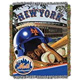 """The Northwest Company MLB New York Mets Home Field Advantage Woven Tapestry Throw, 48"""" x 60"""