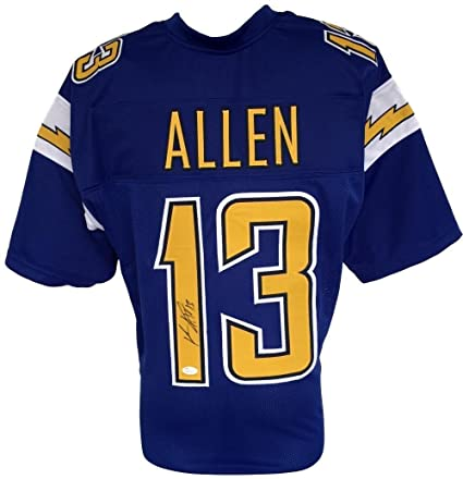 autographed keenan allen jersey custom blue pro style itp jsa rh amazon com San Diego Chargers Keenan Allen Keenan Allen Cal