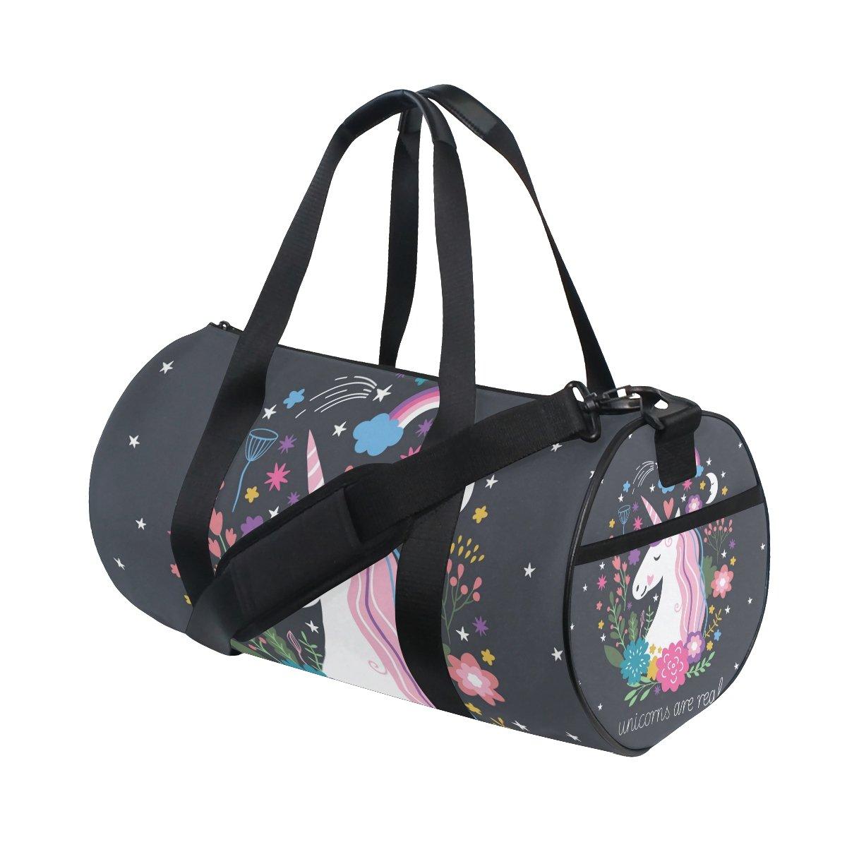 9ebab68482a0 ALIREA Unicorn Duffle bag Shoulder Handy Sports Gym Bags for Men and Women