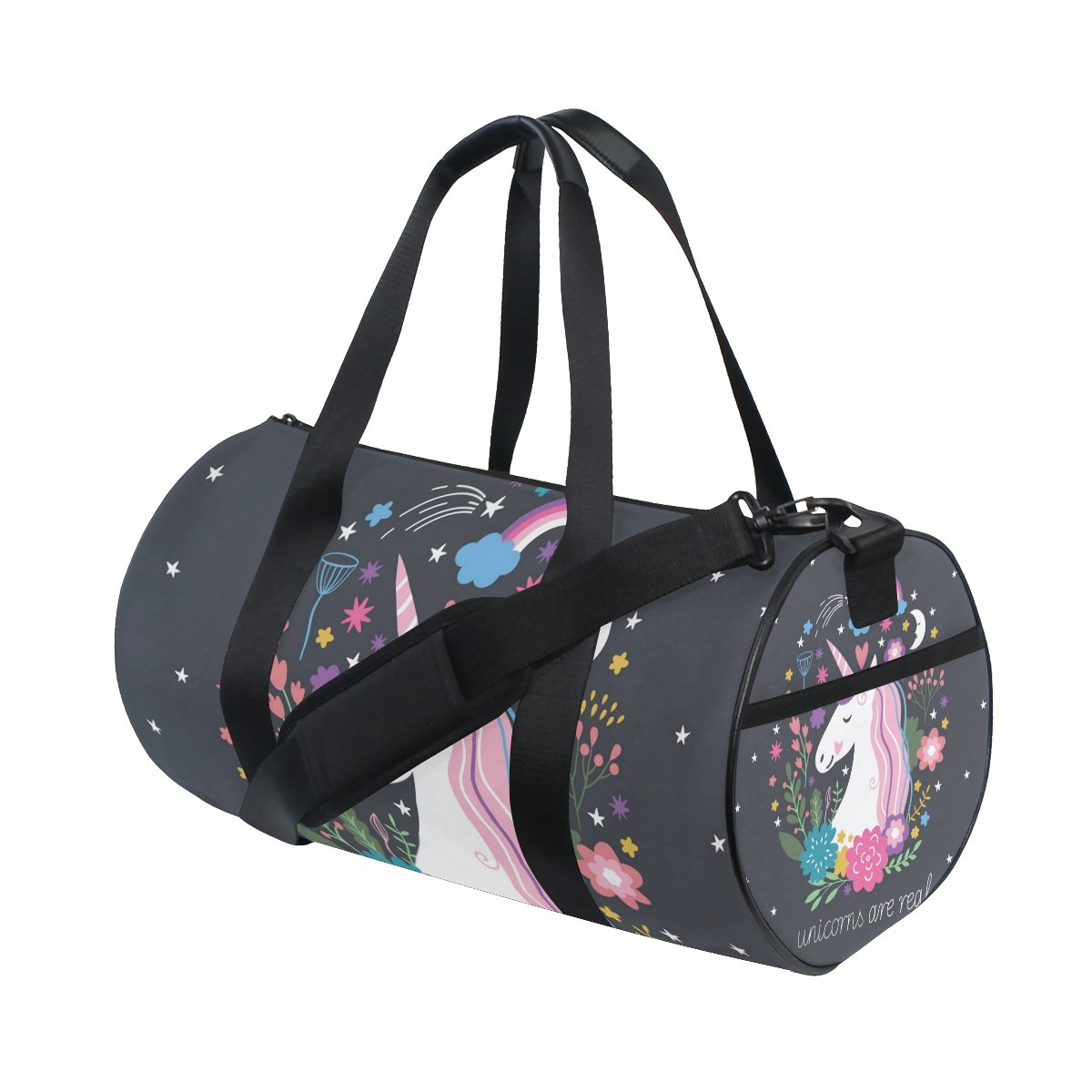 ALIREA Unicorn Duffle bag Shoulder Handy Sports Gym Bags for Men and Women