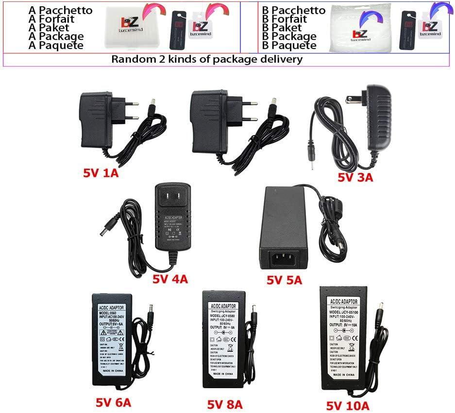 bzcemind 5 V 24 V 12 V Transformador de iluminación AC 110 V 220 V a 12 V Fuente de alimentación 1 A 2 A 3 A 5 A 6 A 8 A 10 A LED Driver 10 W 60 W 100 W 120 W Transformador 1A 5V