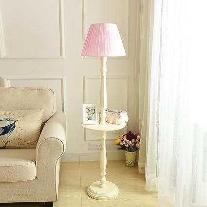 Lámpara de pie de mesa de centro de madera maciza ...