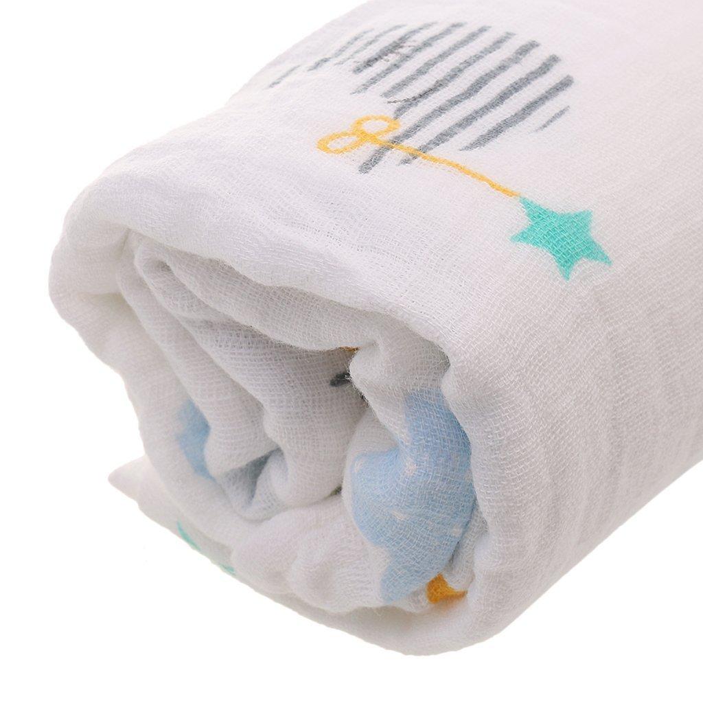 Toallas de baño para recién nacido Ecovers, suave dibujos animados, 110 x 110 cm