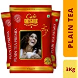Cafe Desire Combo of Instant Plain Tea Premix Red Range (3Kg)
