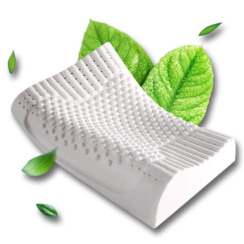 LSQ Schlafkissen Orthopädische Kissen Memory Foam Latexkissen 50  30  7   9CM-Niedrig & High Orthopädisches Körnchen-Massage-Design für Nacken- und Schulterschmerzen