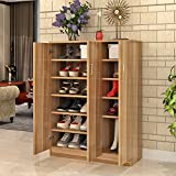 Multifunctional shoe rack living room shoe cabinet simple and modern shoe rack wooden shoe rack multi-layer porch closing cabinet hall cabinet-A