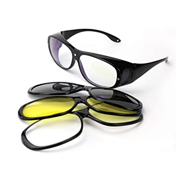 Amazon.com: GOODLQ Visión nocturna Wraparound gafas – se ...