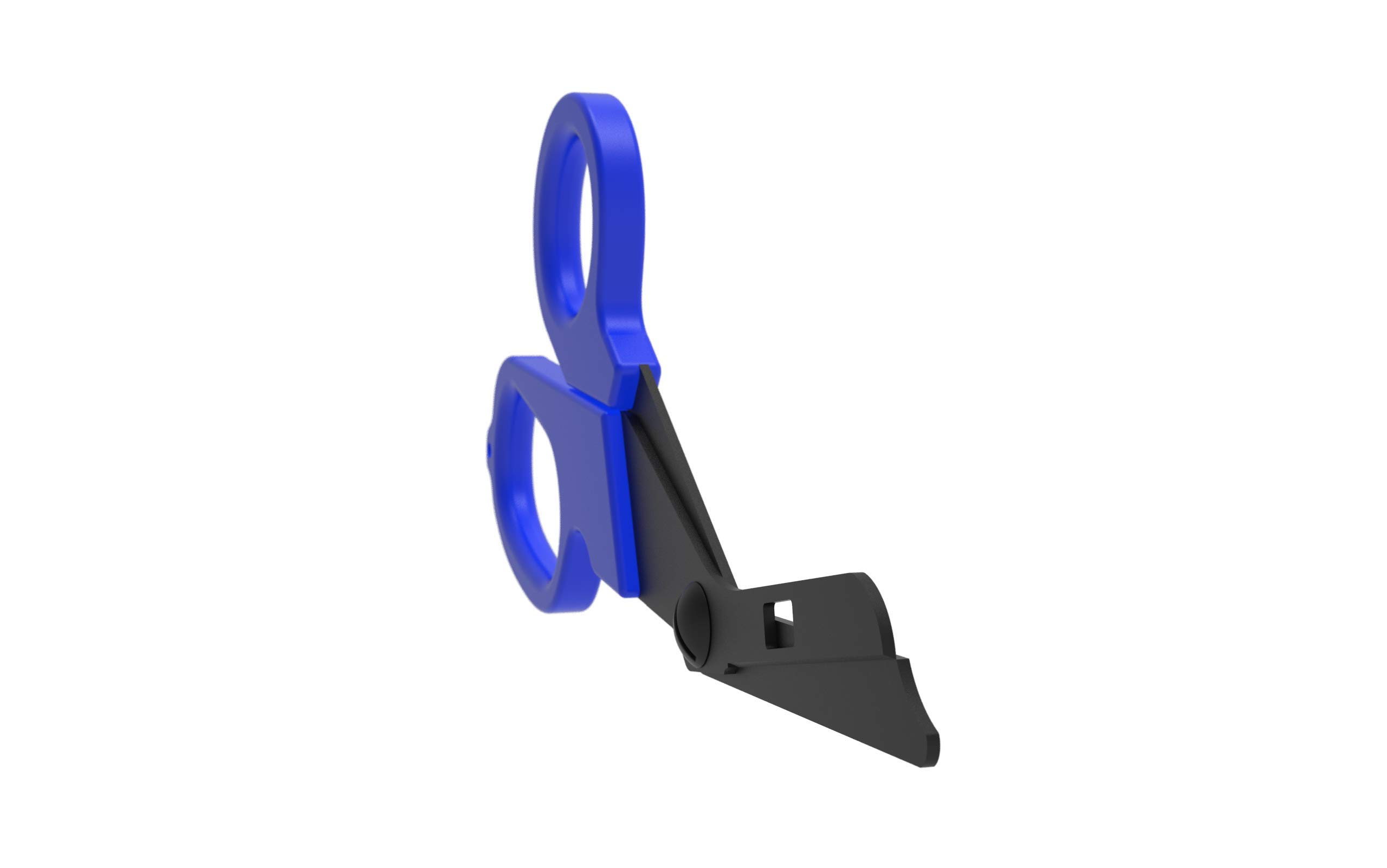 Trauma Shears - Diamond Coated Extreme Duty ER LIFE ONE SHEAR - Relentless, Tough and Enduring Emergency Healthcare Provider Shears Made with Japanese Surgical Stainless-Steel - (Blue) by ER LIFE ONE SHEAR (Image #6)