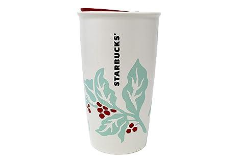 331cb9f02b4 Amazon.com: Starbucks 2018 Holiday Mint Holly Berry Double Wall ...