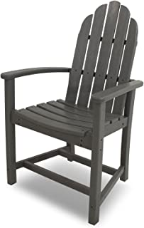 product image for POLYWOOD ADD200GY Classic Adirondack Dining Chair, Slate Grey