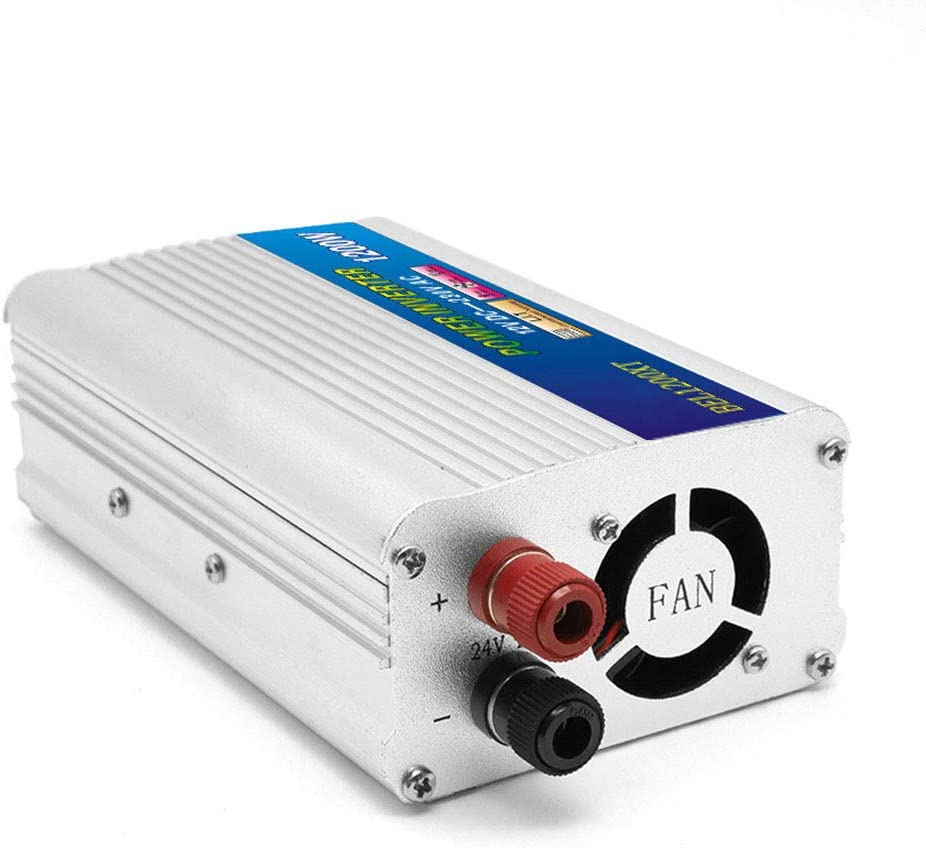 MTSBW 1200W Power Inverter DC12V 24V to 220V AC car Power Converter Pure sine Wave Adapter Multiple Intelligent Protection for Camping Outdoor Power,12v
