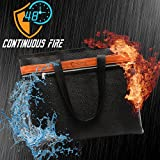 "Today 70% Off! Fire Safe, Fireproof Document Bag 15""x12""x2"" NON-ITCHY Fire