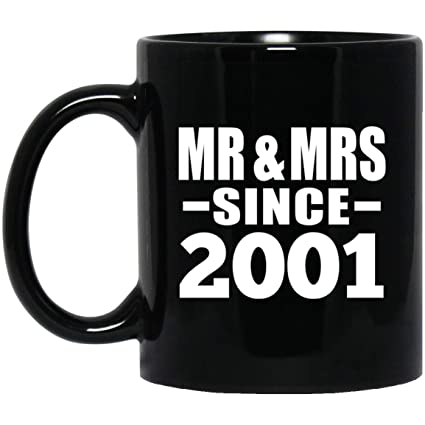 Designsify Anniversary Best Gift Idea 18th Anniversary Mr u0026 Mrs Since 2001-11 Oz Coffee  sc 1 st  Amazon.com & Amazon.com: Designsify Anniversary Best Gift Idea 18th Anniversary ...