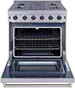 Thor Kitchen 30 inch Freestanding Pro-Style Professional Gas Range with 4.55